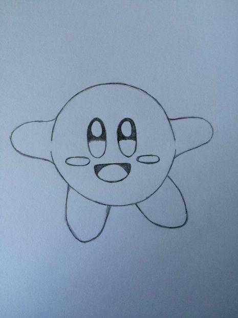 Comment Dessiner Kirby Etape 8 Couleur Dans Les Yeux Et La