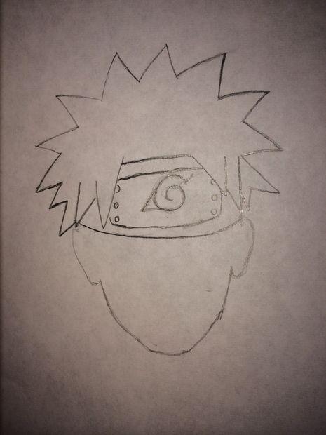 Comment Dessiner Naruto étape 4 à Partir De La Tête