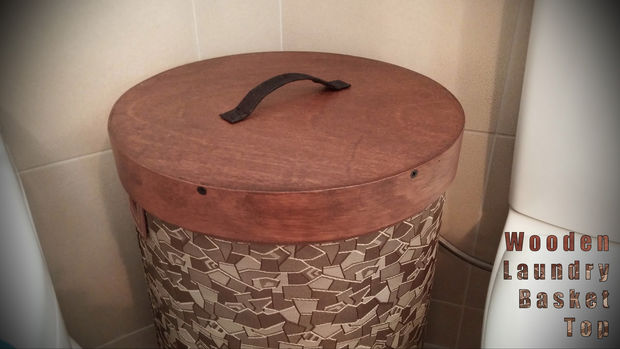 comment faire un couvercle en bois rond pour un panier linge. Black Bedroom Furniture Sets. Home Design Ideas