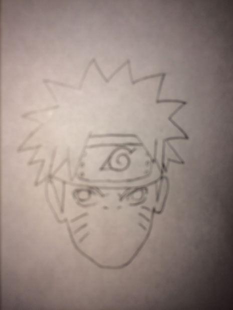 Comment Dessiner Naruto étape 6 Visage Détails Partie 2