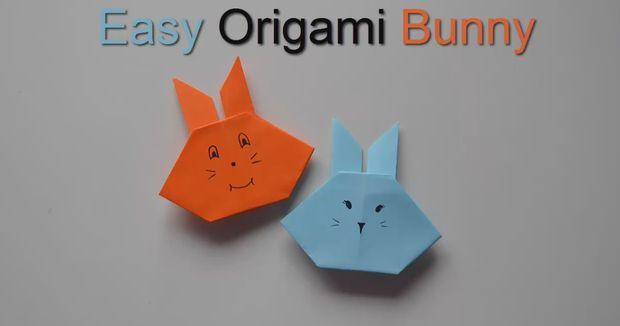 Papier Origami Artisanat Bricolage Lapin Tutorial Facile