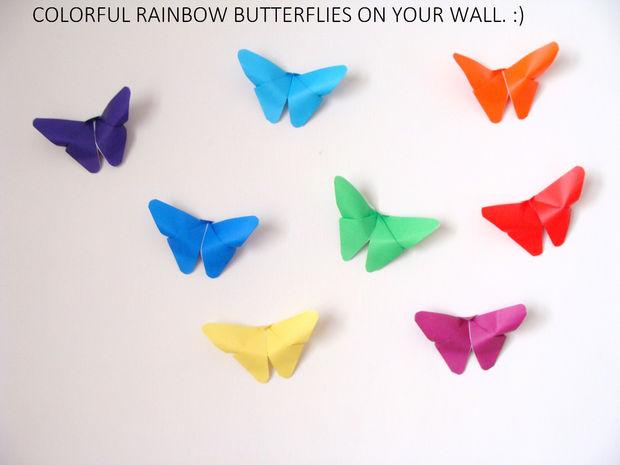 Décoration murale origami de papillon - tubefr.com
