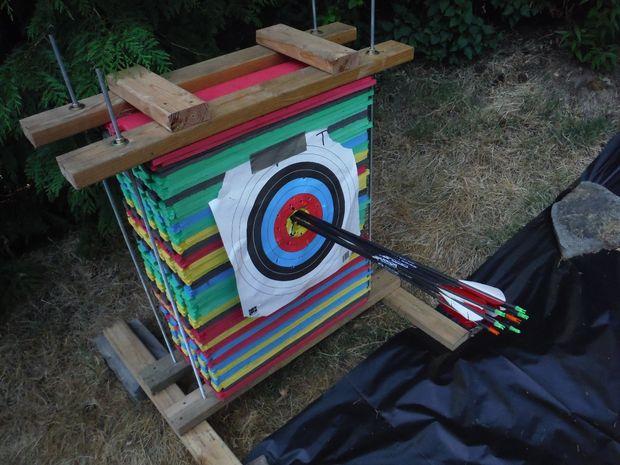 Cible de tir l arc ultra durable mousse - Carton de demenagement pas cher ...