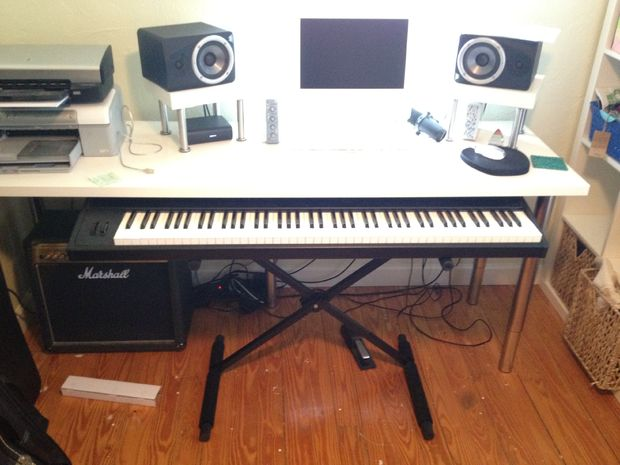 Coulissants e piano keyboard stand pour daw tubefr