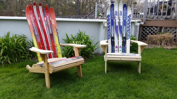 chaise adirondack ski. Black Bedroom Furniture Sets. Home Design Ideas
