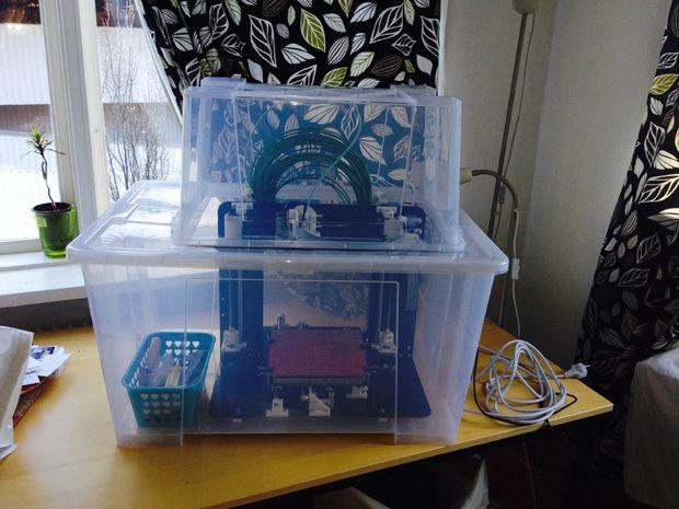 Boîtier Pour Imprimante 3d à Laide De La Boîte Ikea