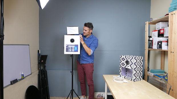 bricolage photo booth avec shell en carton de 10 et wifi imprimer et partager. Black Bedroom Furniture Sets. Home Design Ideas