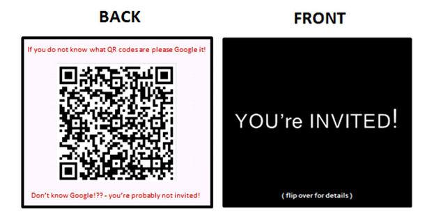 BRICOLAGE Sur Invitations Moderne Laide De Cartes Visite Et QR Codes