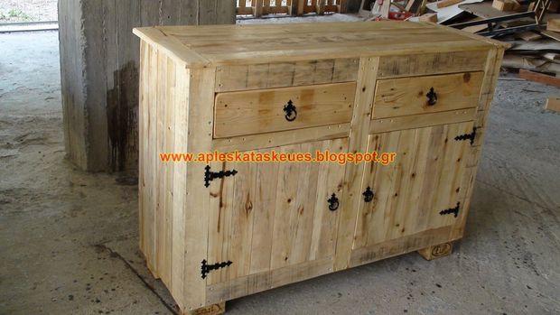 bahut de palette. Black Bedroom Furniture Sets. Home Design Ideas