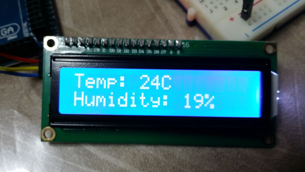 arduino temperature humidite capteur dht11 et i2c lcd un jour projet. Black Bedroom Furniture Sets. Home Design Ideas