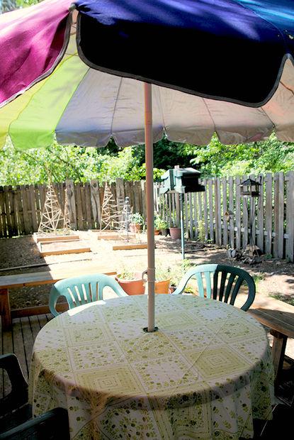 Nappe Bricolage Avec Un Trou Pour Parasol De Patio