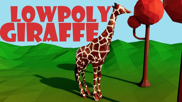 Low Poly Girafe Cinema 4d Tubefrcom