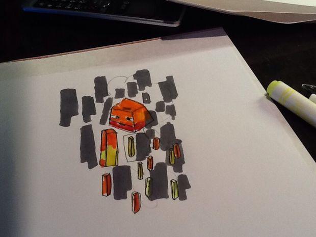 Comment Dessiner Un Flamboiement De Minecraft Une Serie
