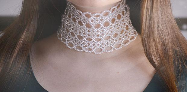 collier perle tutoriel