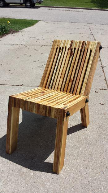 Inclinee De Chaise En Bois Palette