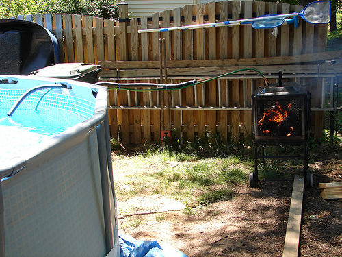 chauffe piscine de wood burning tape 1 comment a marche. Black Bedroom Furniture Sets. Home Design Ideas