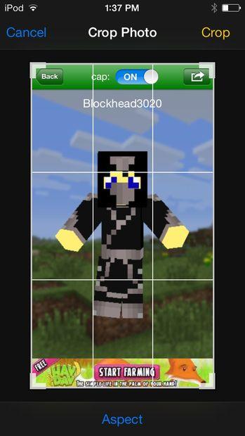 Fonds d'écran Minecraft Skin / Étape 3: Capture d'écran et