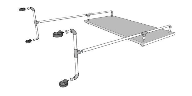 Ikea Hack Tableau Blanc Mobile Etape 4 Assembler Le Cadre Tubefr Com