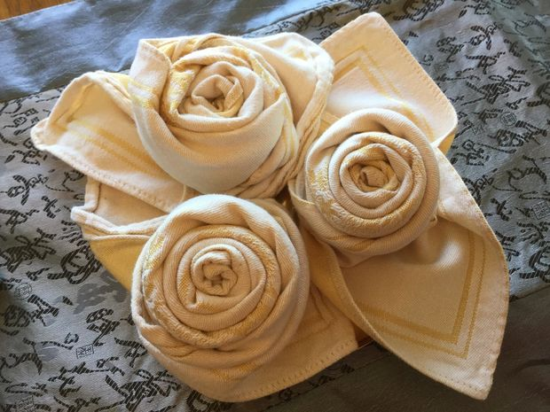 Serviettes De Table Royal Rose Pliage Tutoriel Tubefrcom
