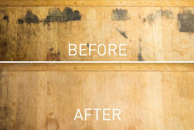 Enlever les taches noires dans les meubles en bois avec de l acide oxalique - Enlever tache d eau sur bois ...