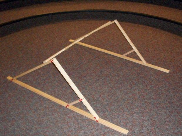 Comment construire un batardeau Brace / Etape 4: Connexion accolades avec un faisceau - tubefr.com