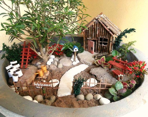 Accessoires de bricolage jardin miniature for Jardin accessoires decoratifs