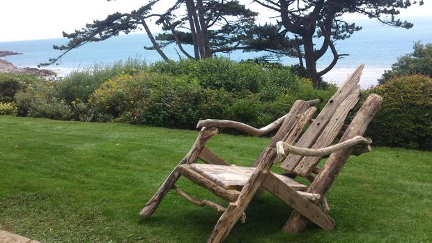 Comment faire une chaise de jardin bois flott - Chaise bois flotte ...