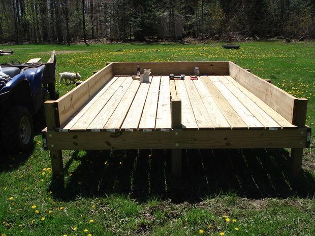 Comment Faire Un Lit Sureleve Jardin Etape 5 Cadre De Lit