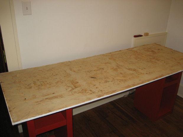 Tableau blanc bureau etape coller le tableau blanc pour le