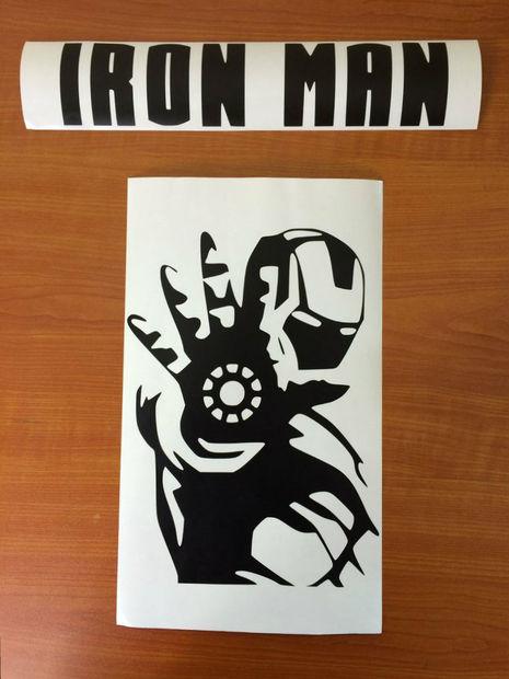 Top Rétro-éclairé Iron Man Poster / Étape 3: Faire les pochoirs  QL23