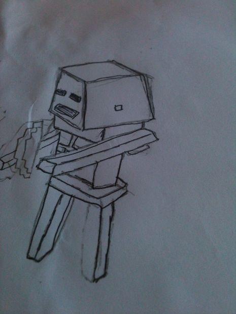 Comment Dessiner Un Squelette De Minecraft Une Série