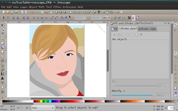 Portraits De Vecteur De Dessin Sur Inkscape Tubefrcom
