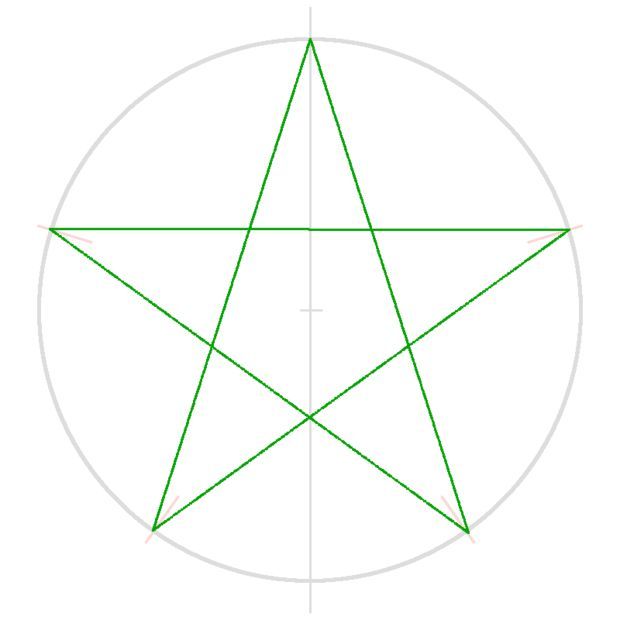 Super Comment dessiner une étoile à 5 branches / Etape 3: Relier les TZ-83