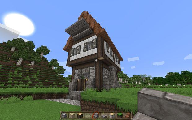 comment construire une maison m di vale dans minecraft. Black Bedroom Furniture Sets. Home Design Ideas