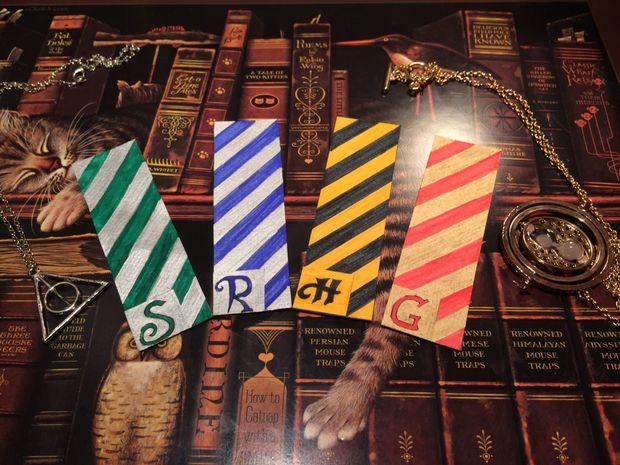 Bricolage Harry Potter Marque Pages Maisons De Poudlard