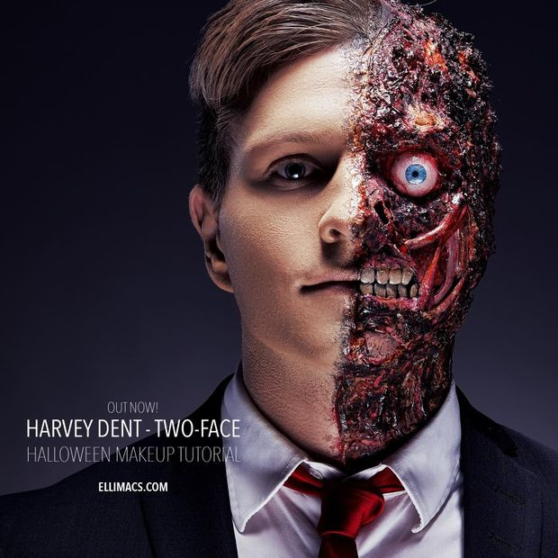 harvey dent double face sfx maquillage tutorial