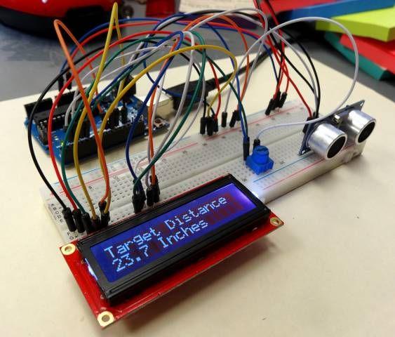 Mesure De Distance Pour Le Capteur 224 Ultrasons Lcd Arduino