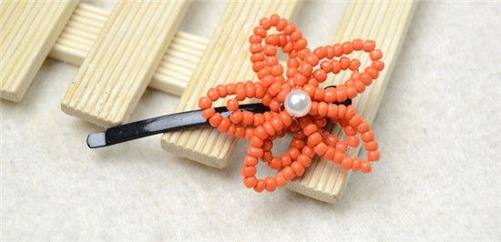 perle de rocaille orange
