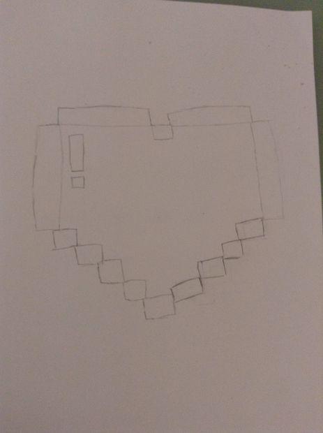 Comment Dessiner Un Coeur De Pixel étape 7 Finitions