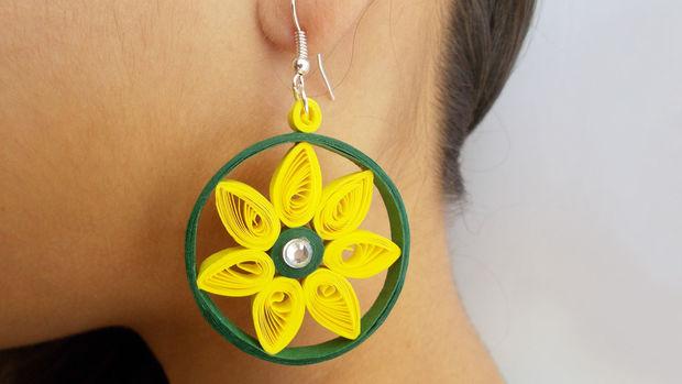 Bijoux bricolage facile comment faire de belles boucles d oreilles de papier la maison - Bricolage a faire a la maison ...