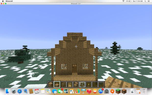 Maison simple de minecraft for Maison facile minecraft