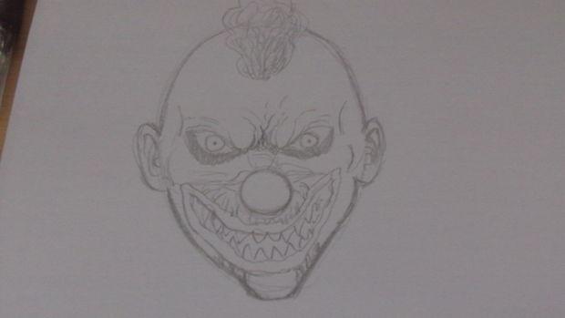Comment Dessiner Un Visage De Clown Killer étape 3 Tirage