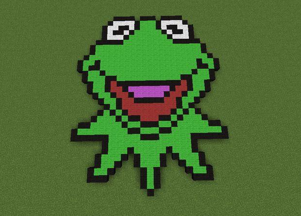 Kermit La Grenouille Pixel Art Tubefrcom