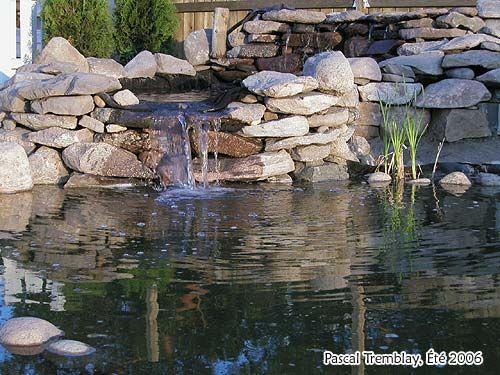 Cascade d\'eau ou étang jardin - bâtiment en cascade étang cascades ...