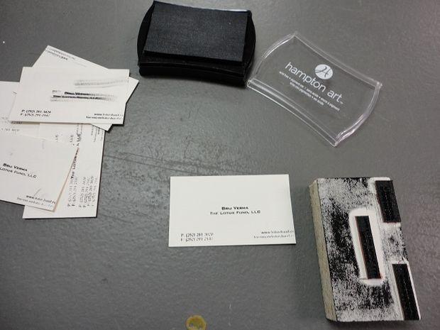 Fait Techshop Rubber Stamping Tampon Pour Cartes De Visite