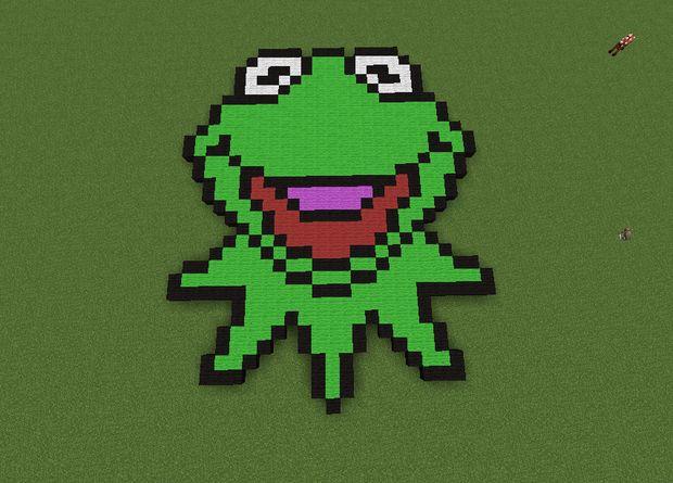 Kermit La Grenouille Pixel Art étape 4 La Tête Tubefrcom